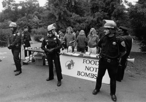 Before Soup Lines were a Necessity. Food Not Bombs shares it's first meal in protest to capitalism.  March 26, 1981