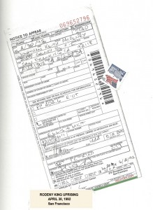 Keith McHenry's ticket for Rioting