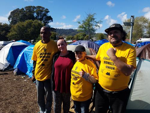 Santa Cruz Homeless Union member Deseire Quintero and the Ross Camp Council